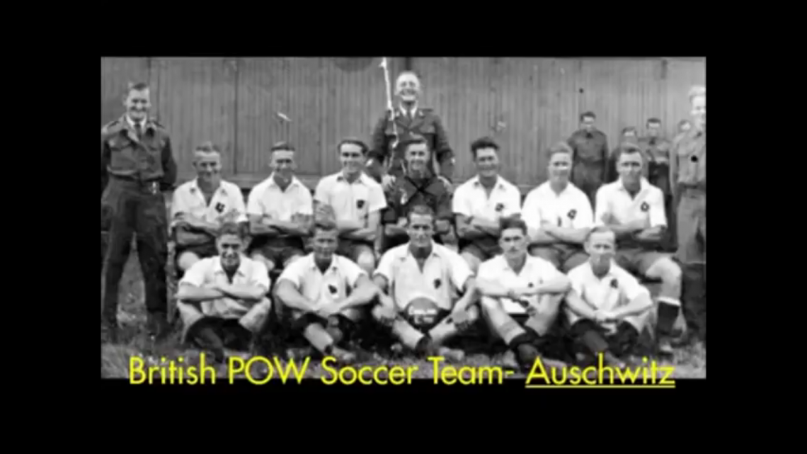British Soccer team at Auschwitz